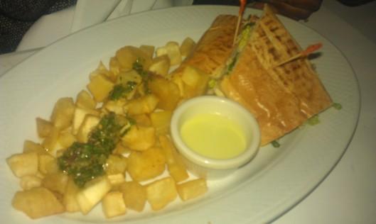 Sandwich with Crispy Yuca Fries