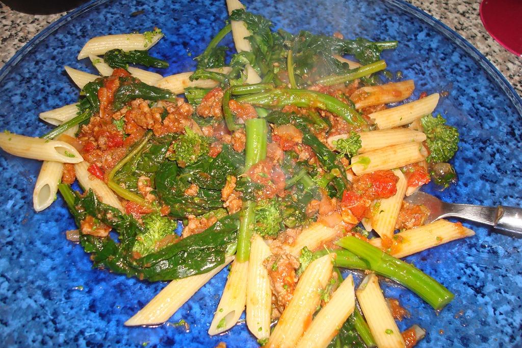 Spicy Turkey Ragu with Penne and broccoli Rabe Food Snob 2.0