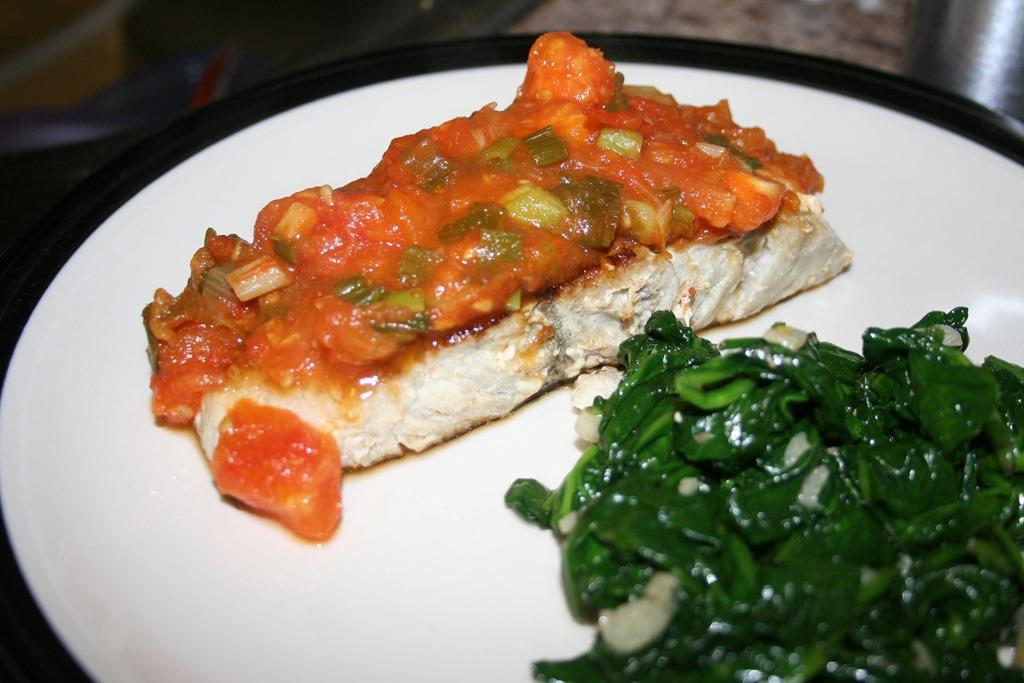 Tomato Fondue over Blue Fish | Food Snob 2.0